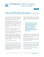 5 Ruinous White Paper Assumptions