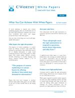 What You Can Achieve With White Papers