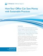 How Your Office Can Save Money with Sustainable Practices