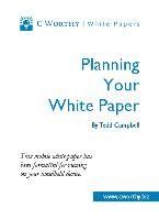 Planning Your White Paper