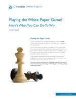 Playing the White Paper Game?
